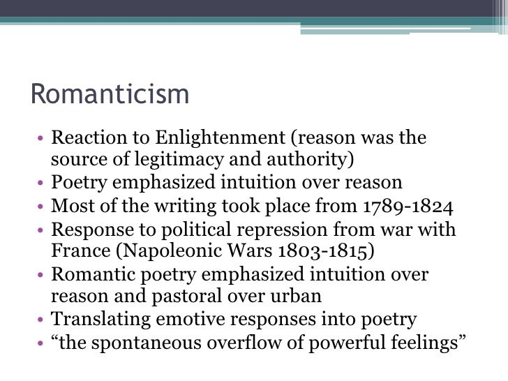 Romanticism and aestheticism Slide 2
