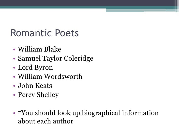 Romanticism and aestheticism Slide 3