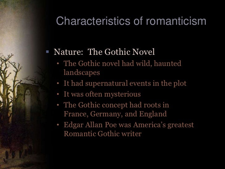 Elements and concepts in the gothic literature sublime supernatural and horror