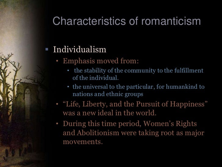 thoreaus elements of american romanticism The american romantic period, which lasted from about 1830-1870, was a time of rapid expansion and growth in the united states that fueled intuition, imagination and individualism in literature.