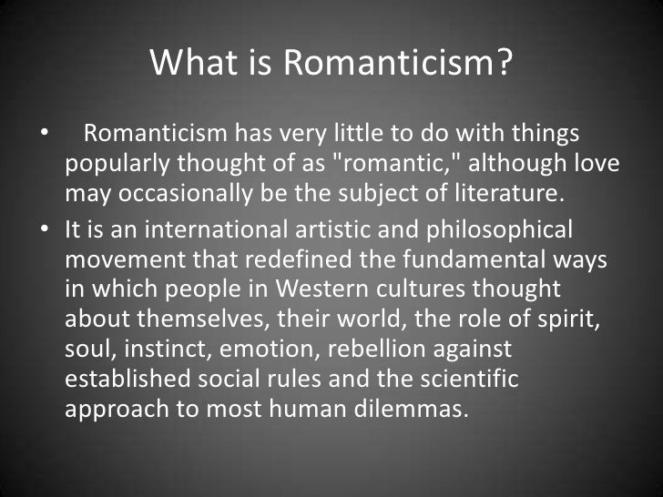Overview of Romanticism in Literature
