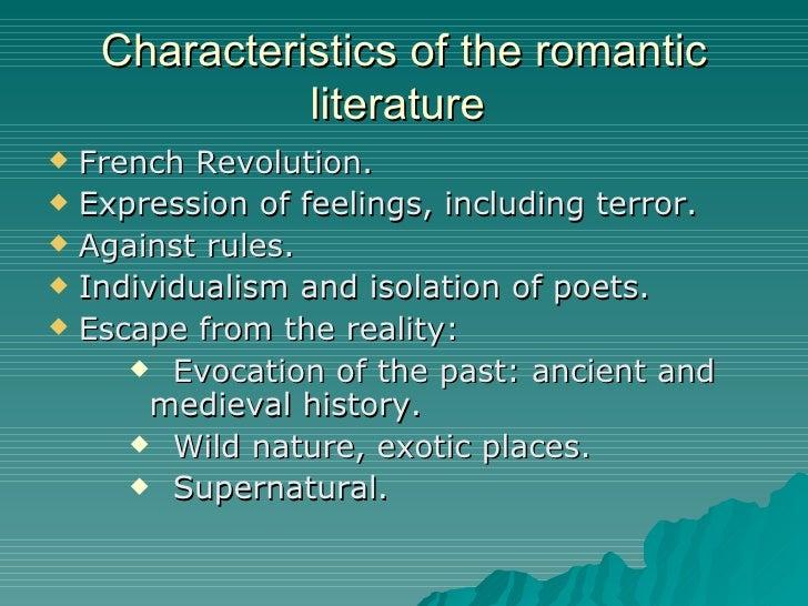 Literary romanticism characteristics