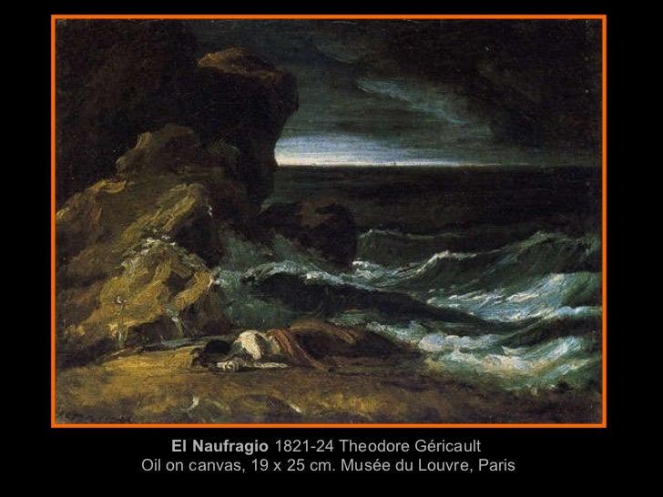 El Naufragio  1821-24 Theodore Géricault  Oil on canvas, 19 x 25 cm. Musée du Louvre, Paris