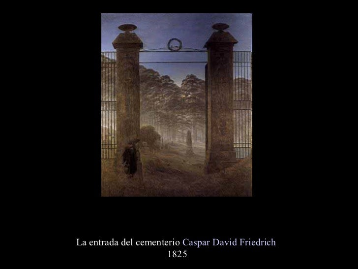 La entrada del cementerio  Caspar David Friedrich  1825