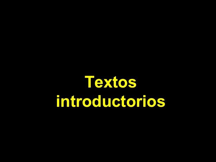 Textos introductorios