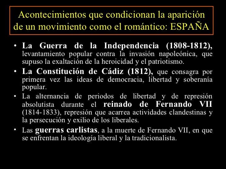 <ul><li>La Guerra de la Independencia (1808-1812),  levantamiento popular contra la invasión napoleónica, que supuso la ex...