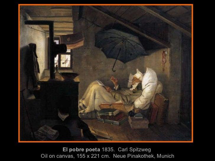 El pobre poeta   1835 .  Carl   Spitzweg  Oil on canvas, 155 x 221 cm .  Neue Pinakothek, Munich