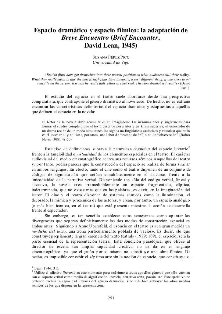 Espacio dramático y espacio fílmico: la adaptación de             Breve Encuentro (Brief Encounter,                    Dav...