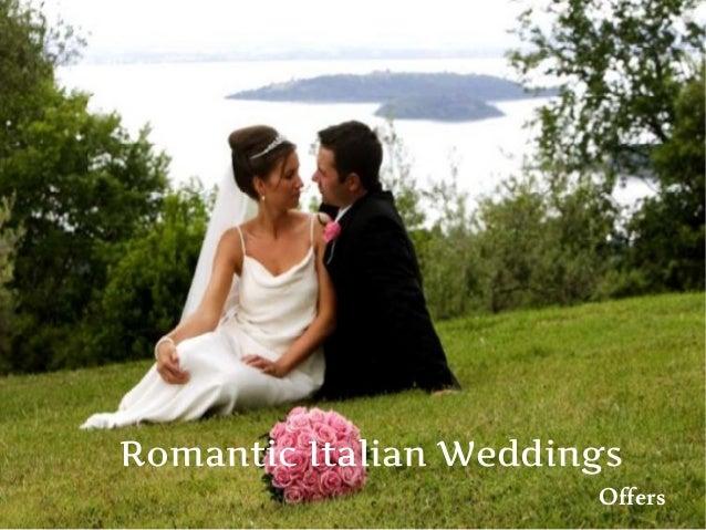 Romantic Italian Weddings Offers
