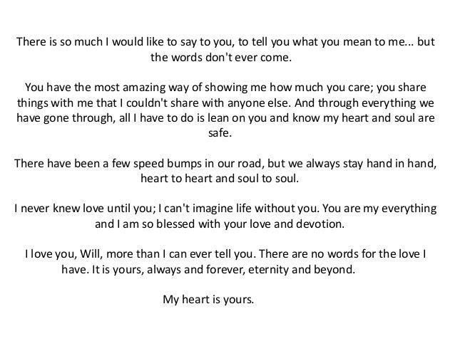 Romantic letters ex boyfriend