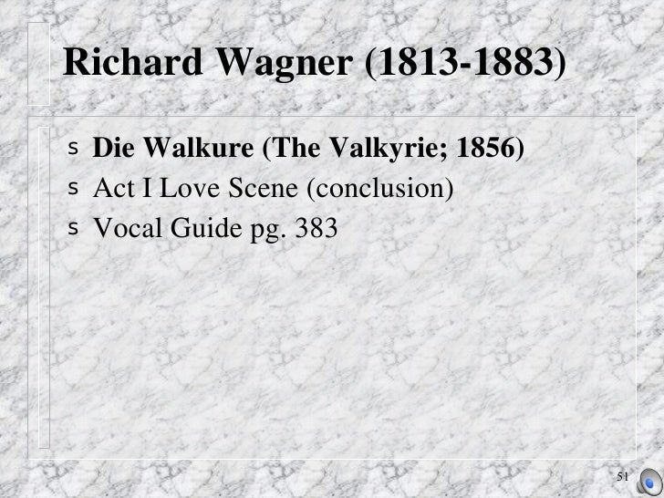the themes of love and lust in the works of richard wagner N the creative mythology volume of his the masks of god (1968), the mythologist joseph campbell traced how artists since the middle ages have used myth, which wagner described as an.