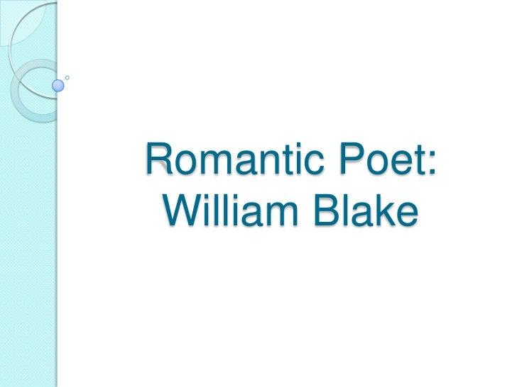 Romantic Poet: William Blake
