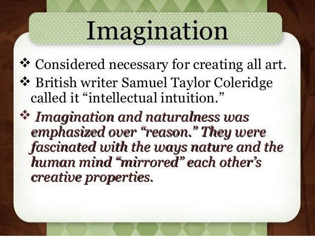imagination in romantic poetry
