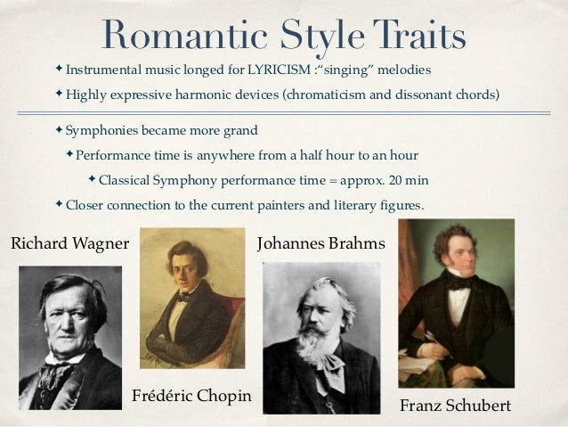 romantic traits in the 19th century There are some fundamental romantic characteristics that should be noted to   one way in which the romantic spirit was expressed in the nineteenth century.