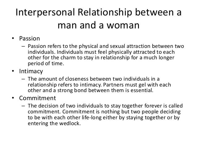 Definition Of A Relationship Between A Man And A Woman
