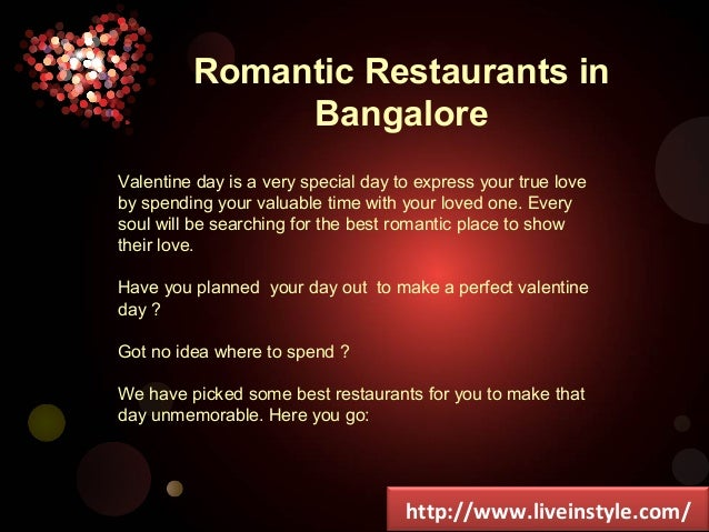 best restaurants for couples in bangalore
