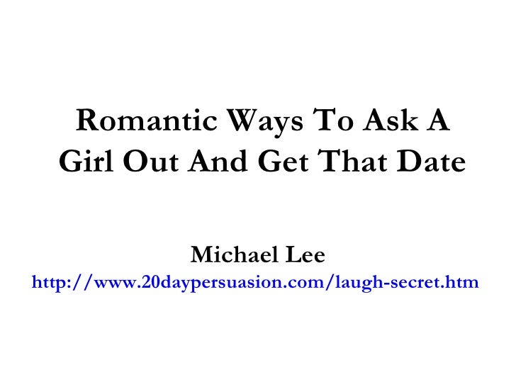 Ask girl out on online dating