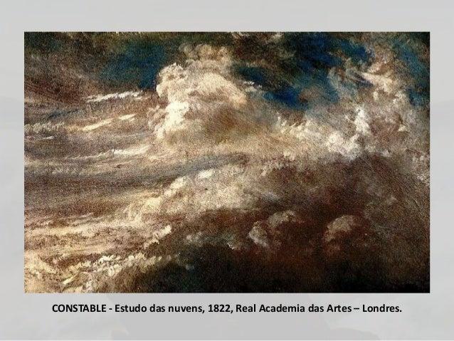 CONSTABLE - Estudo das nuvens, 1822, Real Academia das Artes – Londres.