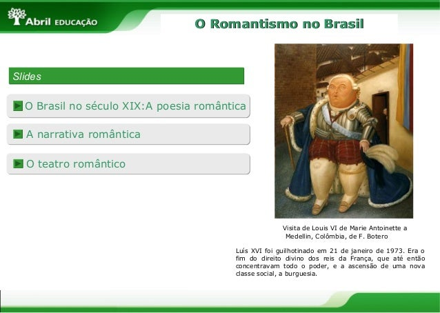 O Romantismo no Brasil  Slides O Brasil no século XIX:A poesia romântica A narrativa romântica O teatro romântico  Visita ...