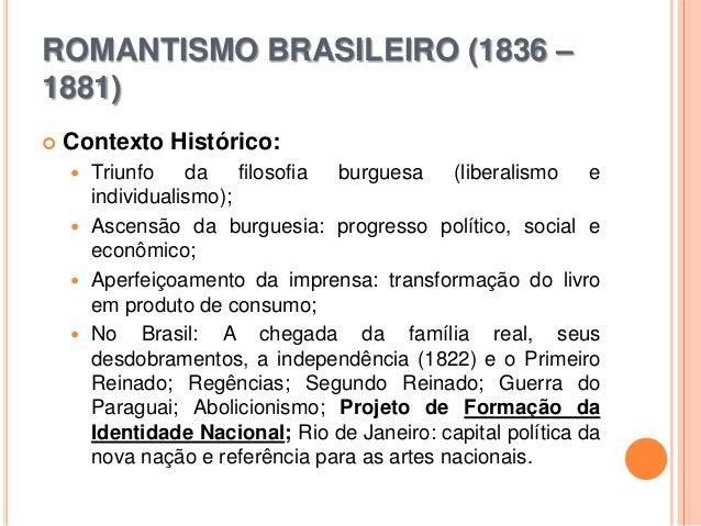 Romantismo Brasileiro - poesia e prosa Slide 2