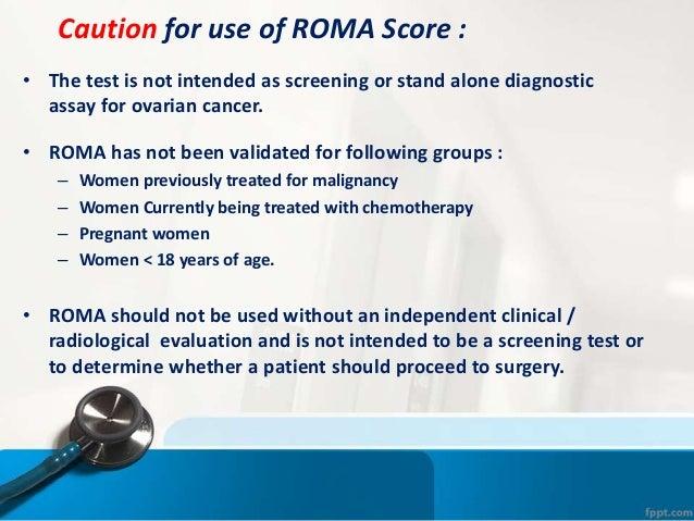 Roma Risk Of Ovarian Malignancy Algorithm