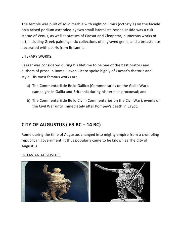 An analysis of the literary works by cicero