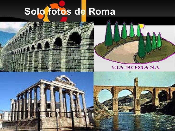 Solo fotos de Roma