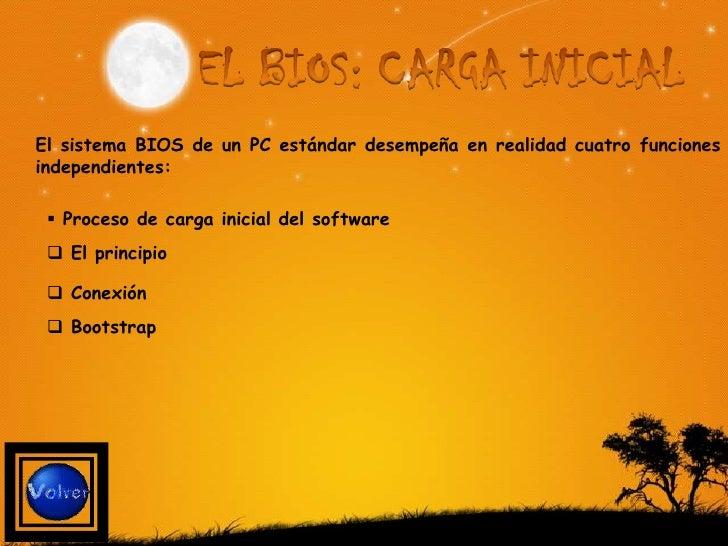 En los PCs y compatibles actuales, el proceso de carga de un sistema operativo, DOS, Windows, Linux o cualquier otro, se c...