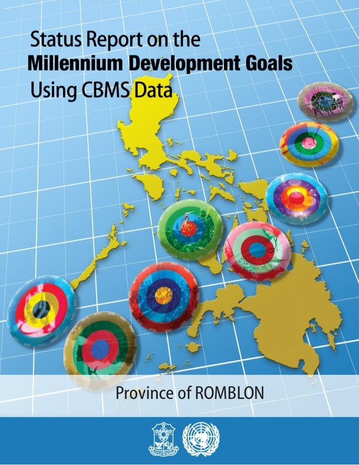MDGs Provincial Status Report 2010 Philippines Romblon