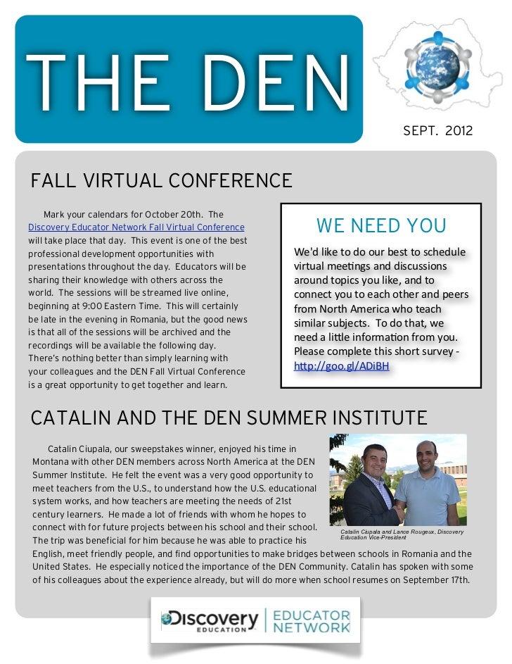 THE DEN                                                                                                    SEPT. 2012FALL ...