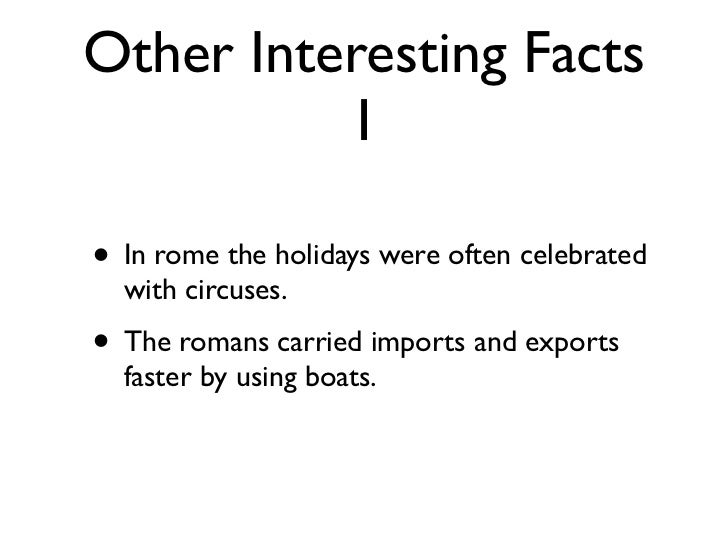 Fun Facts About Romans For Kids