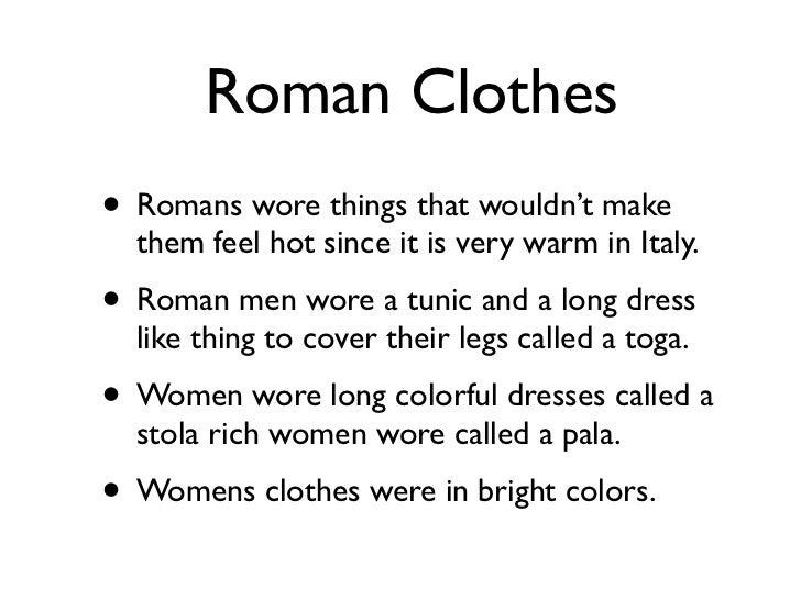 Historical Roman Women S Clothing