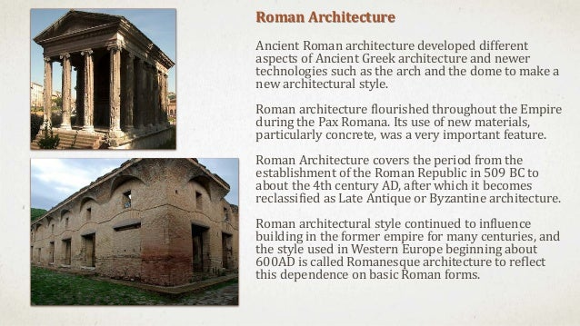 an analysis of greek and roman architecture Roman architecture from yale university roman architecture is a course for people who love to travel and want to discover the power of architecture to shape politics, society, and culture learn online and earn valuable credentials from top.