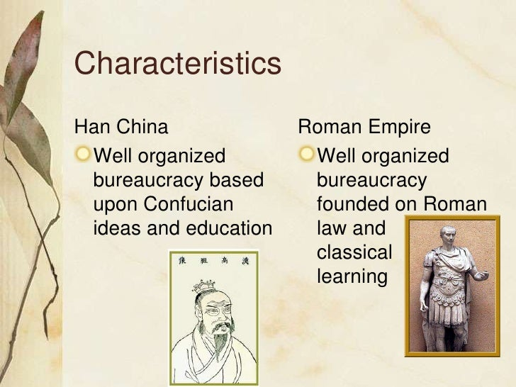 the han and rome The roman empire and han dynasty were both powerful influential forces in their heyday [1] this research project compares the economic, social, technological and military situations of the romans and the hans the han dynasty (traditional chinese: 漢朝) emerged as a principal power in east asia.