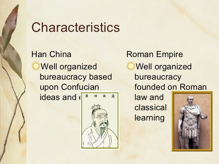 a comparison of han china and Rome and han one similarity domes, a central heating system, sewage systems, and ampitheatres han china.