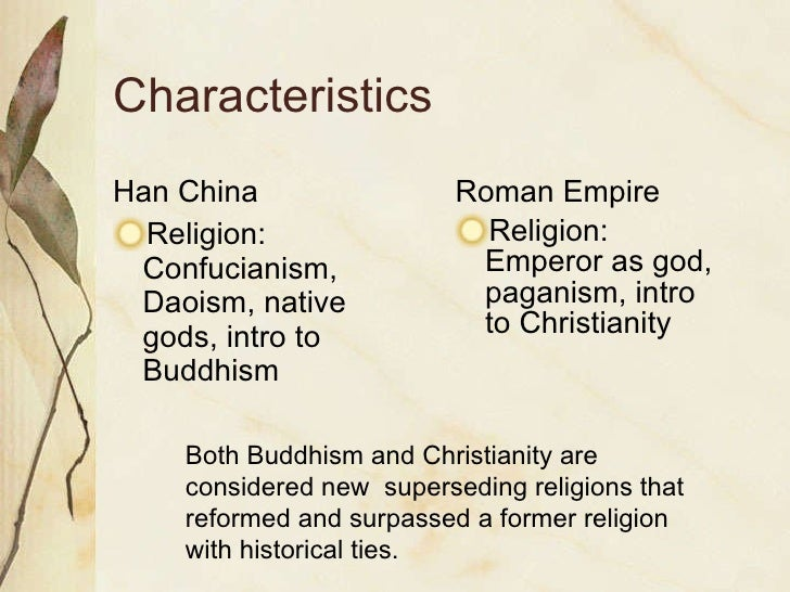 Difference between han china and rome