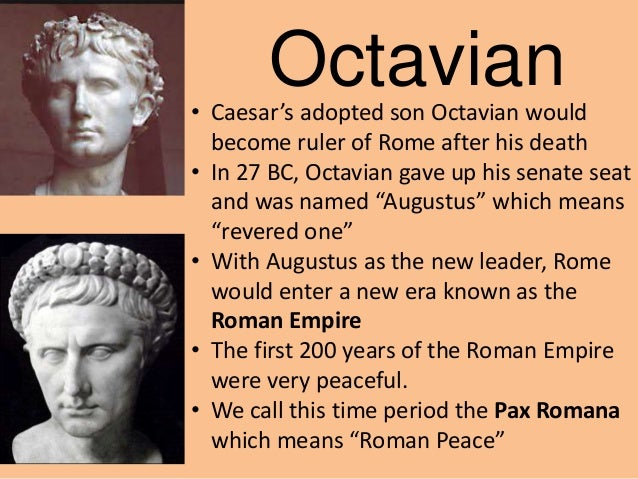 """describing the leadership of augustus caesar in the ancient roman empire Sometime before the first surviving written historical account, rome was  controlled  powerful leaders such as julius caesar and caesar augustus  began to  that looked to ancient rome for as the model for their new  government  for what the constitution describes as """"high crimes and  misdemeanors."""