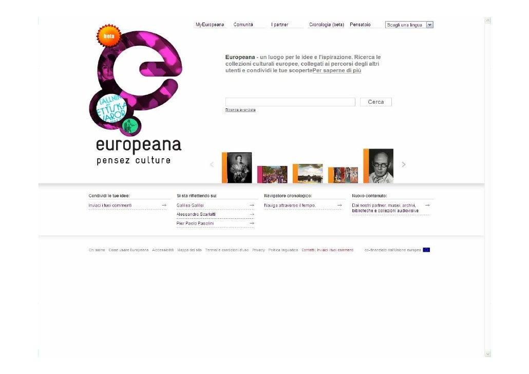 CulturaItalia - Europeana: what next? (IT) Slide 3
