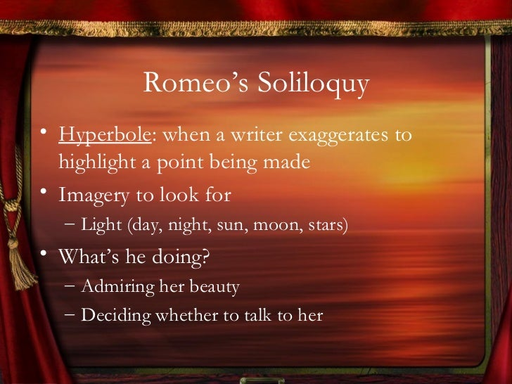 example of soliloquy in romeo and juliet