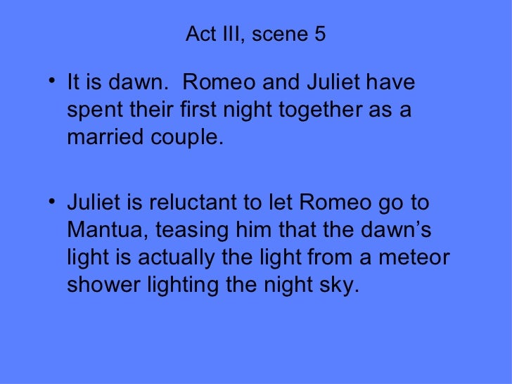romeo and juliet act 5 scene 3 analysis essay The conflict in romeo and juliet english literature essay print reference in the capulet household the focus is on discord primarily between juliet and her parents in act 3, scene 5 lord capulet there is further evidence of inner conflict in act 2, scene 2 as romeo uses.