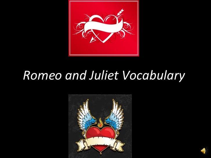 Romeo and Juliet Vocabulary
