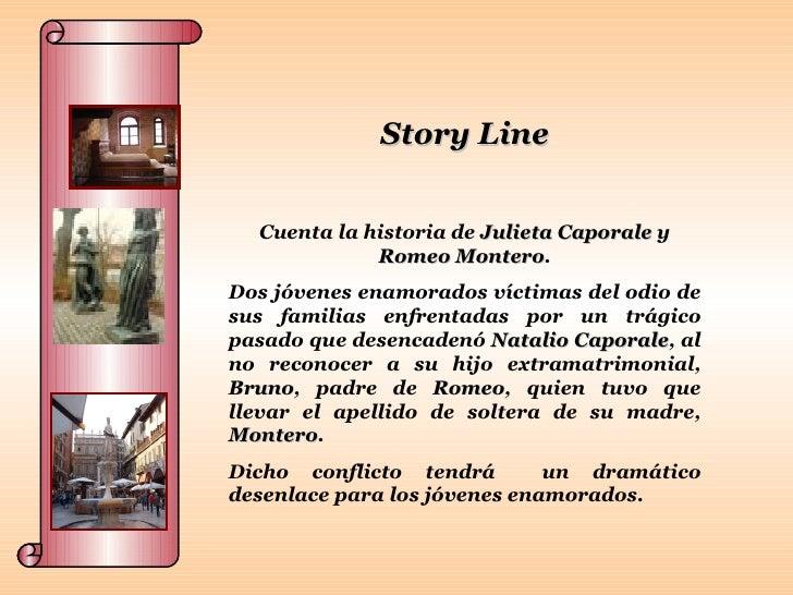 Story Line Cuenta la historia de  Julieta Caporale  y  Romeo Montero . Dos jóvenes enamorados víctimas del odio de sus fam...
