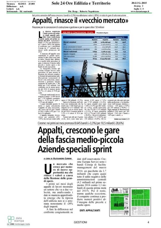 Sole 24 Ore Edilizia e Territorio 20-LUG-2015 da pag. 2 foglio 1 / 3 Dir. Resp.: Roberto Napoletano www.datastampa.it Lett...