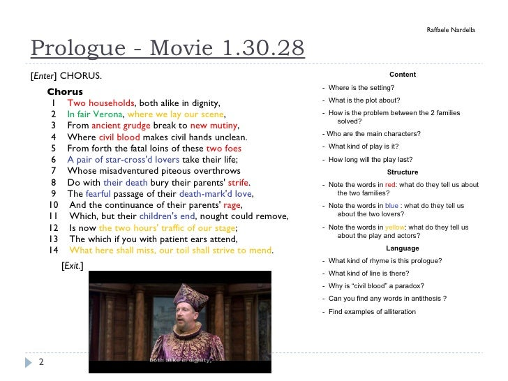 an explication of a passage from shakespeares romeo and juliet Language of romeo and juliet introduction here are just some expressions coined by shakespeare in romeo montague and juliet the fearful passage of their.