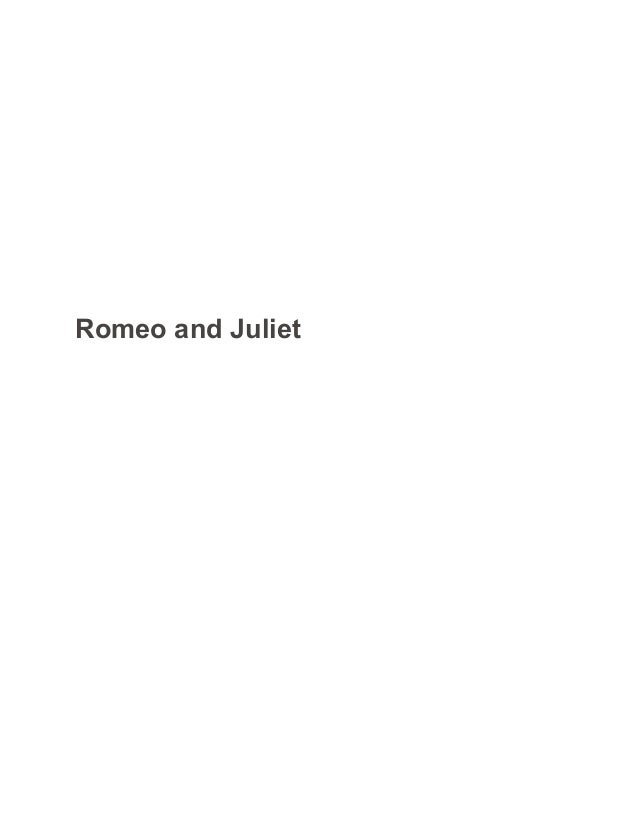 romeo and juliet sample paper  essay