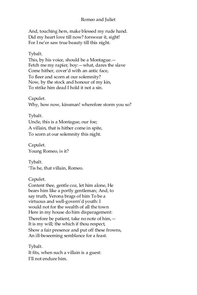 romeo and juliet death quotes