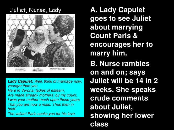 relationship between lady capulet and the nurse