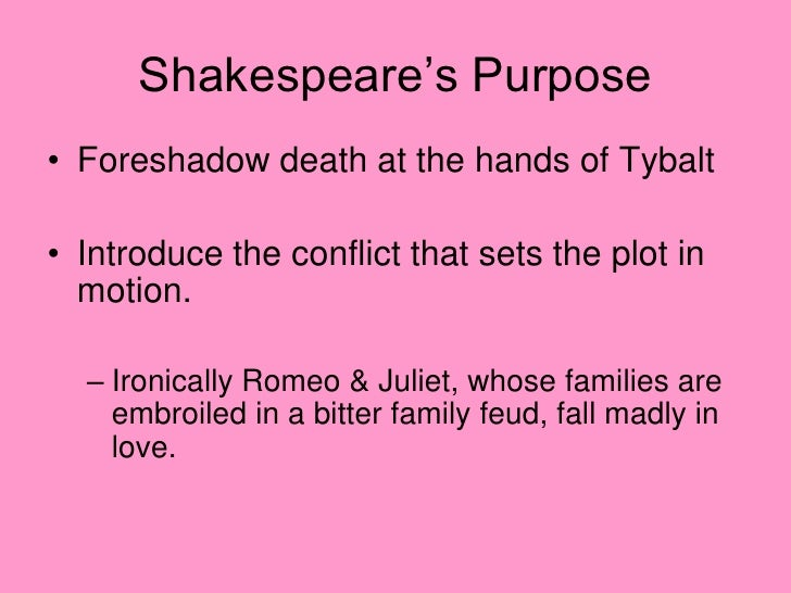 "romeo and juliet essay on foreshadowing Foreshadowing the chorus's first speech declaring that romeo and juliet are  doomed to die and ""star-crossed"" the lovers' frequent thoughts of death: ""my."