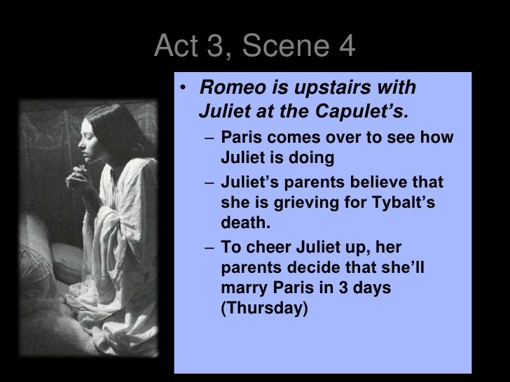 an analysis of act 1 scene 3 of the tragedy of romeo and juliet Romeo and juliet is a tragedy written by william shakespeare early in his career about two young act v scene 3: juliet awakes to find romeo dead see also.