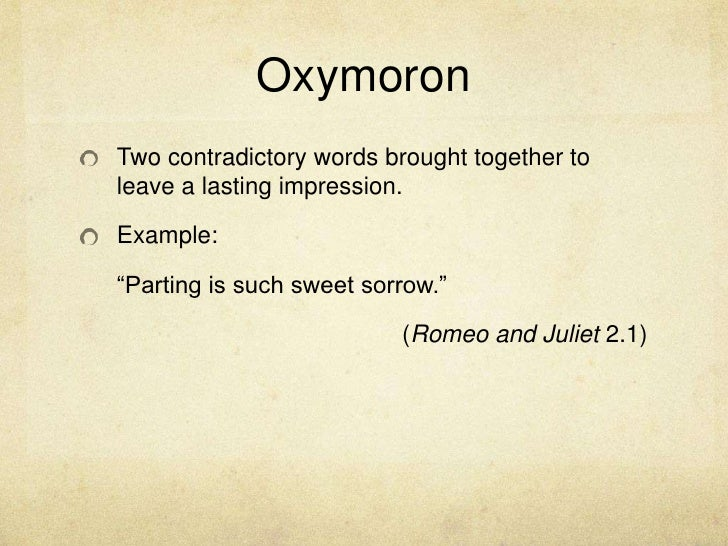 Romeo And Juliet Lit Terms And Examples